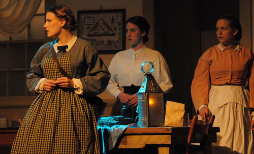 Scene from McMath's first full length play All for the Union. Photo by Jim Poston.