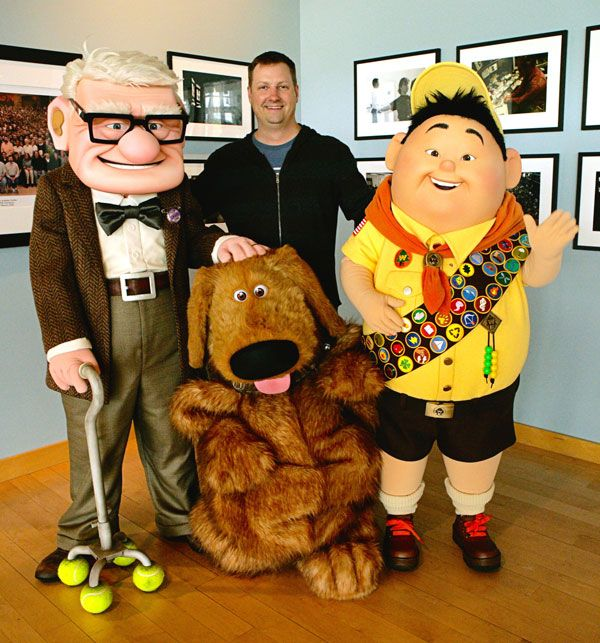 Dave Mullins with UP characters