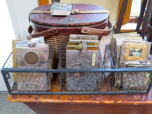 Basket of handmade books