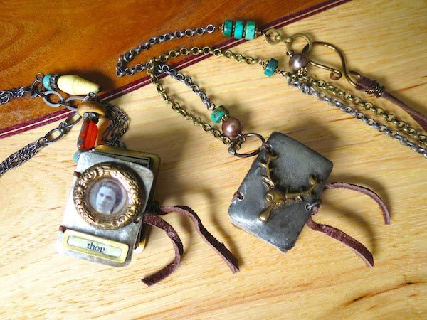 Leslie Marsh mini book necklaces