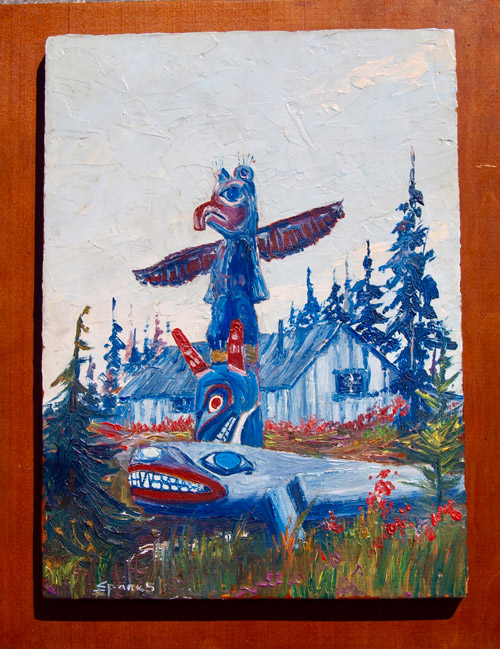 Native Alaskan Totem Carvings