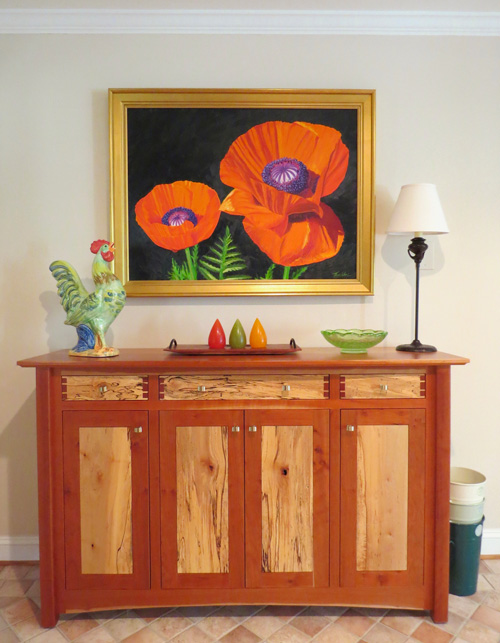 Poppies by Tom Neel is a piece that helps to show a bright image of life when decorating with art.