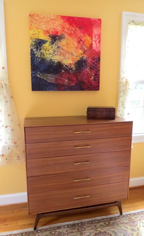 One of our new-to-us mid-century modern dressers.