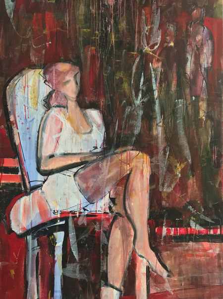 Elaine Weiner Reed This Seat Is Taken painting